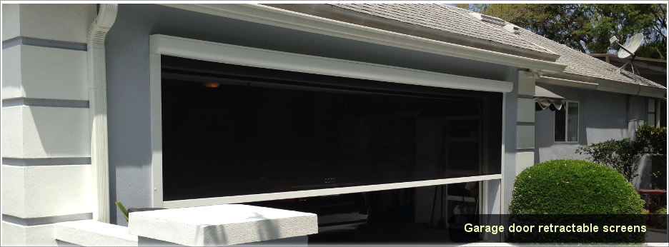 Garage door screens retractable 2017 2018 best cars for Retractable double garage door screen